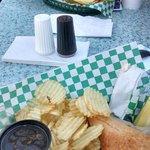 French Dip and Cheeseburger