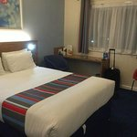 Double bed with drinks facilities.