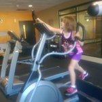 grand daughter in tge gym