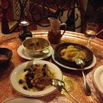 Lemon Chicken Tagine and specialty Couscous with lamb