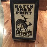Hatch Show Print store sign
