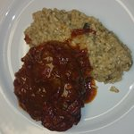 Osso buco with wild mushroom risotto