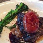meltingly tender braised short ribs over farro with gorgonzola!