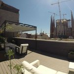 Terrace Lounge with view on Sagrada Familia