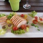 Best chicken salad around the pool.