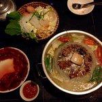 Lao fondue (with buffalo meat)