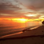 Sunset at mantanani