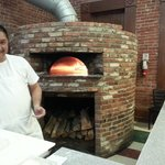 round brick oven with great view of flames