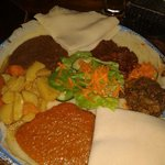 Mix of african food