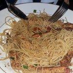 Mediterranean style pasta with chicken was very good