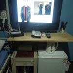 Hair Dryer, TV with DigiBox, Wi-Fi Router, Telephone, Ref, & Water Heater  - all available for f