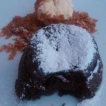 Chocolate caliente con helado