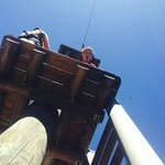 Look how high up in the sky my 10 year old was!