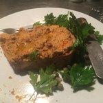 crab paste, toast, parsley salad