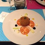 Starter, similar to a scotch egg but with fish
