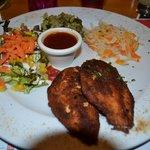 poulet pané aux speculoos et légumes