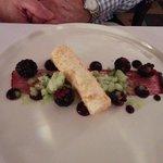Vanilla Cheesecake, Blackberries, Apple Granite