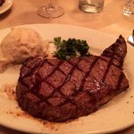 A delicious Chicago rib eye...one of the best steaks I've had...combined with a big local cab-sa