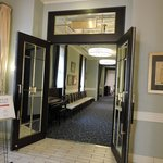 The foyer leading to the breakfast room