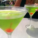 Melon martinis outside