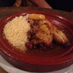 Chicken with lemons and olives tajine