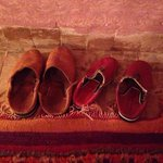 Slippers are provided in the cosy rooms