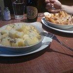 gnocchi con gorgonzola and pasta al forno