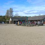The National Trust information centre, cafe and shop