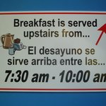 Breakfast 7:30 - 10:00 am