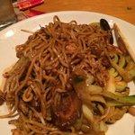 Veggie stir fry with Kung Pao sauce