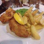 gluten free fish & chips - yum