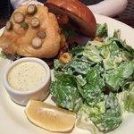 Fish Sandwich With Ceasar Salad