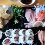 Sashimi Bento Box c/w Sunomono and Miso soup
