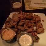 Bad but so good, fried pickles!