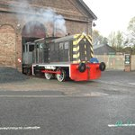 Loco comes out the old goods shed
