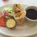 Grilled Chicken Wrap with a Salad & Black beans...was delish!
