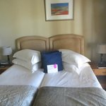Bed with an ostrich plume