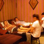 Relaxing at the massage spa