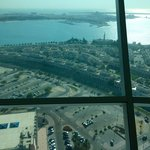Вид из кафешки вверху башни