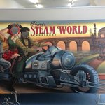 The new Steampunk faceboard at Pearns Steam World.