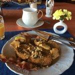 Scrumptious breakfast at Amber house B & B