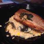 Farida on risotto. A great fish but the risotto is a mismatch. Prefer a Farida on a platter (see