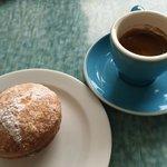 Rhubarb Doughnut & Coffee