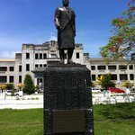 Statue outside government buildings