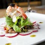 salad with fresh seafood