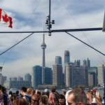 On the ferry - view on Toronto