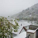 Izalzu desde la terraza de nuestra habitación.