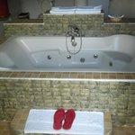 Bath tab in the honemoon suite