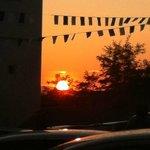 cena sul tramonto
