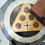 Duomo Cathedral - Medici coat of arms on the floor